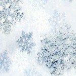 Наклейка на плеер Блестящие Снежинки