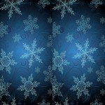 Наклейка на плеер Векторные Снежинки