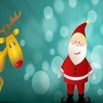 Наклейка на плеер Векторный Дед Мороз