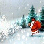 Наклейка на плеер Дед Мороз