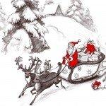 Наклейка на плеер Дед Мороз На Санях