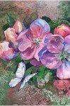 Наклейка на планшет Бабочка И Цветы