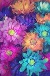 Наклейка на планшет Яркие Цветы