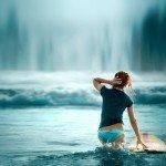 Наклейка на плеер Серфингистка