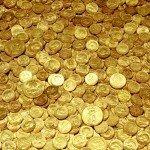 Наклейка на плеер Золотые Монетки