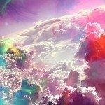 Наклейка на плеер Цветные Небеса