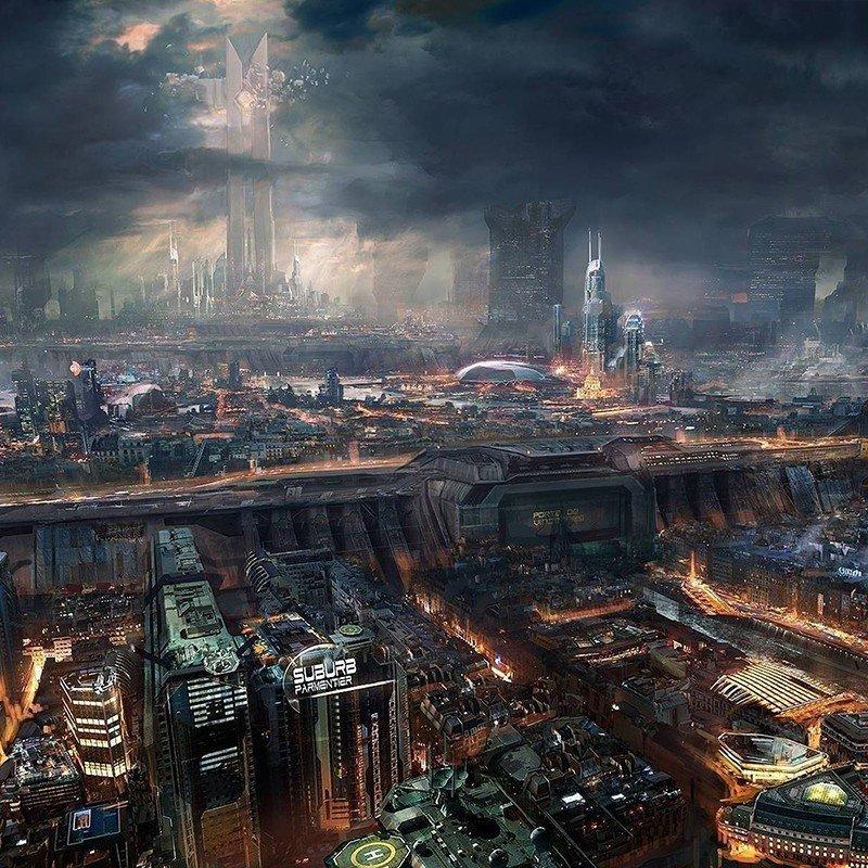 Чехол на телефон Кибер-Город