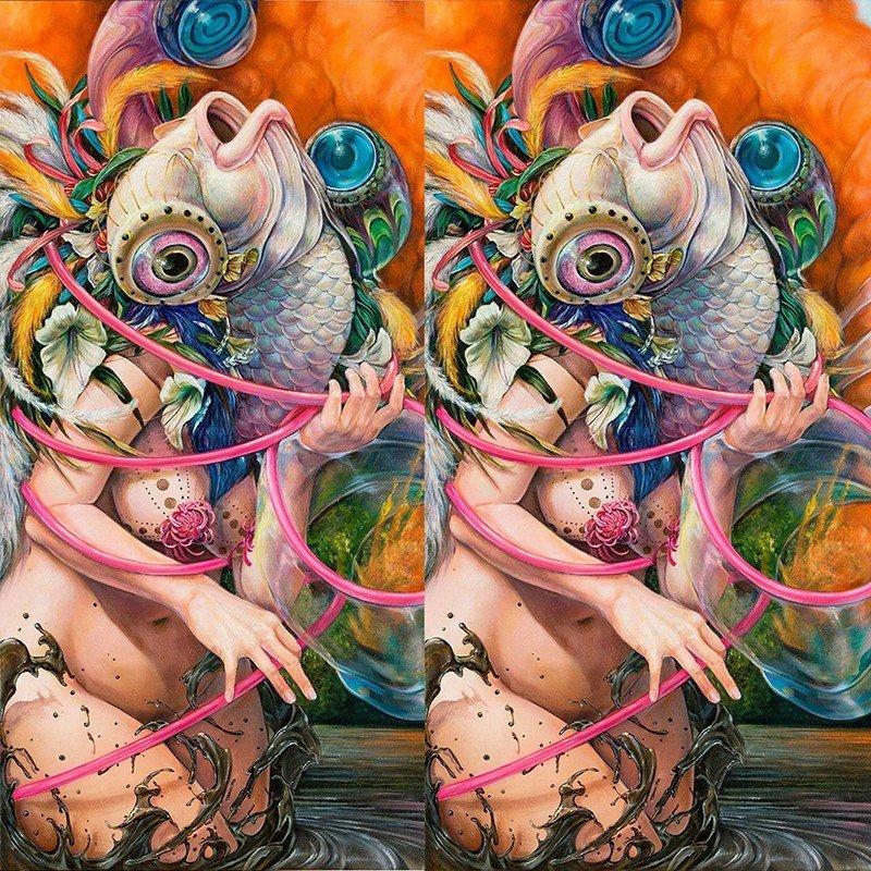 Чехол на телефон Рыба-Женщина