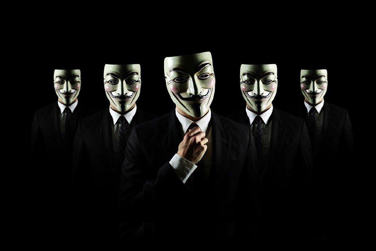 Наклейка на ноутбук Анонимус