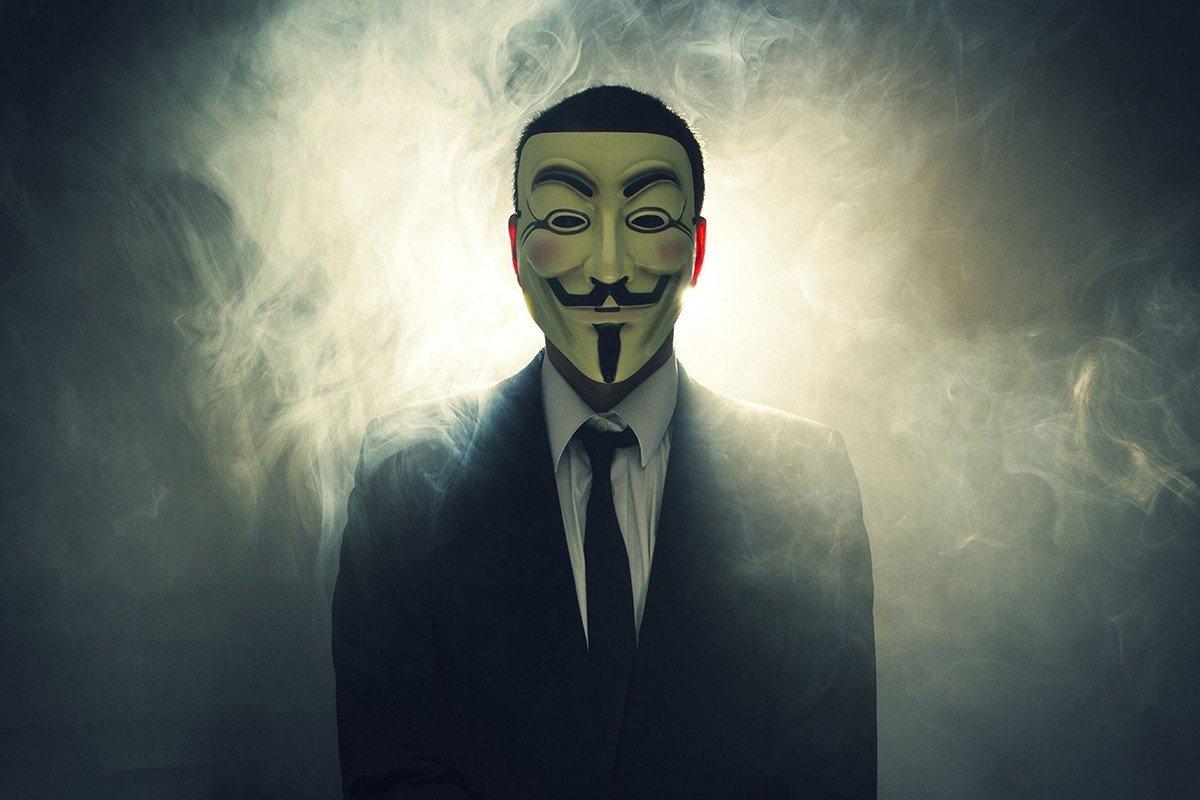 Наклейка на ноутбук Anonumous