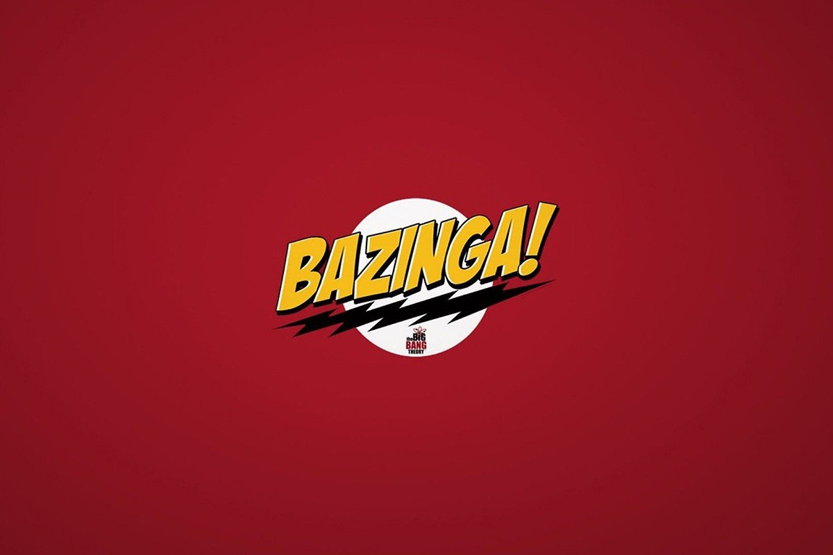 Наклейка на ноутбук Bazinga