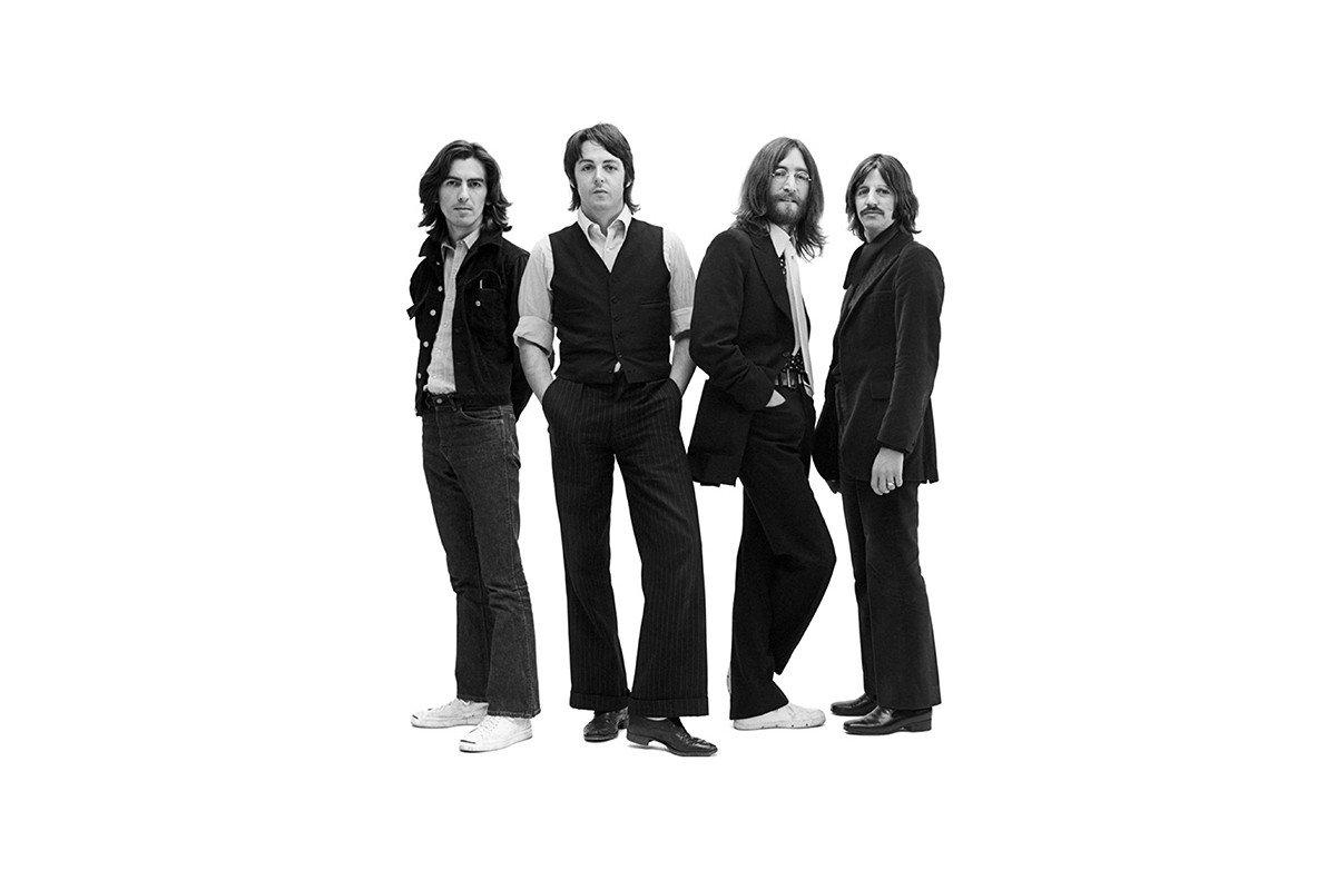 Наклейка на ноутбук Beatles
