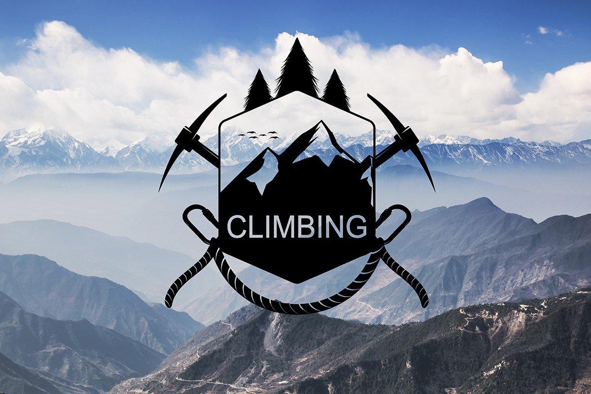 Наклейка на ноутбук Climbing