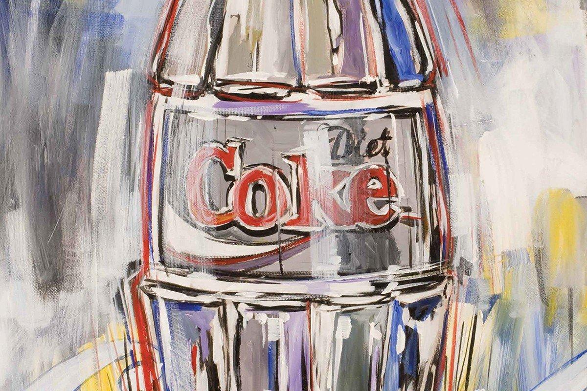 Наклейка на ноутбук Coke