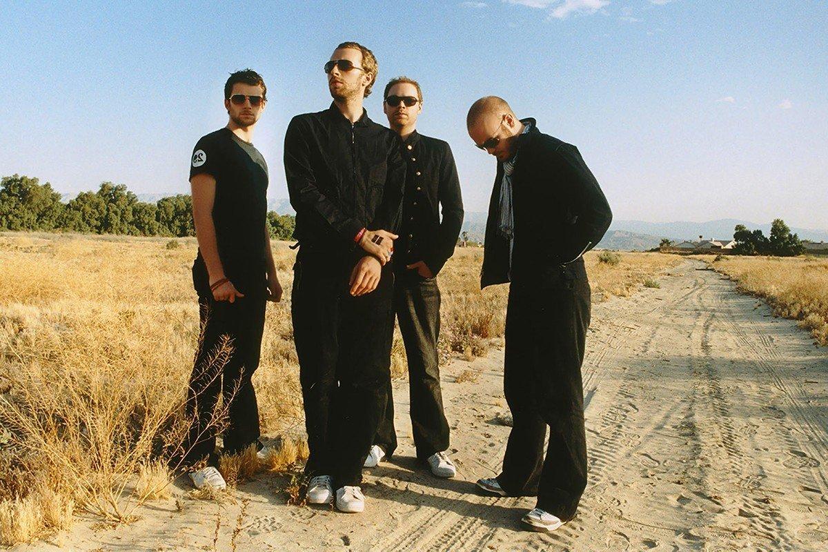 Наклейка на ноутбук Coldplay