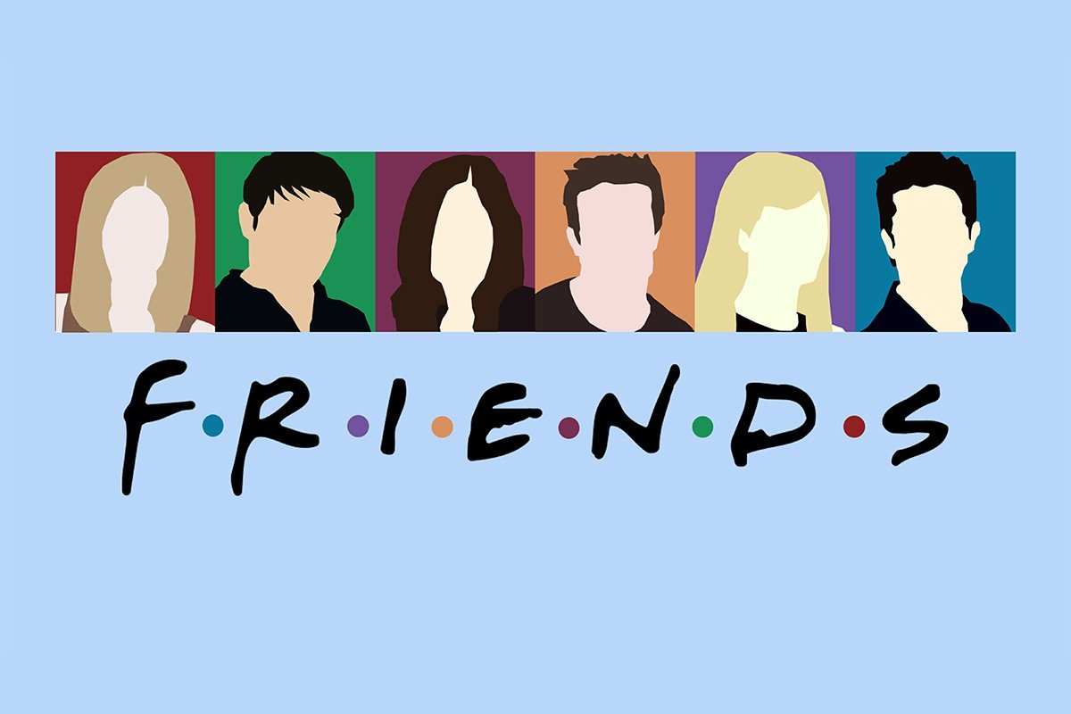 Наклейка на ноутбук Друзья