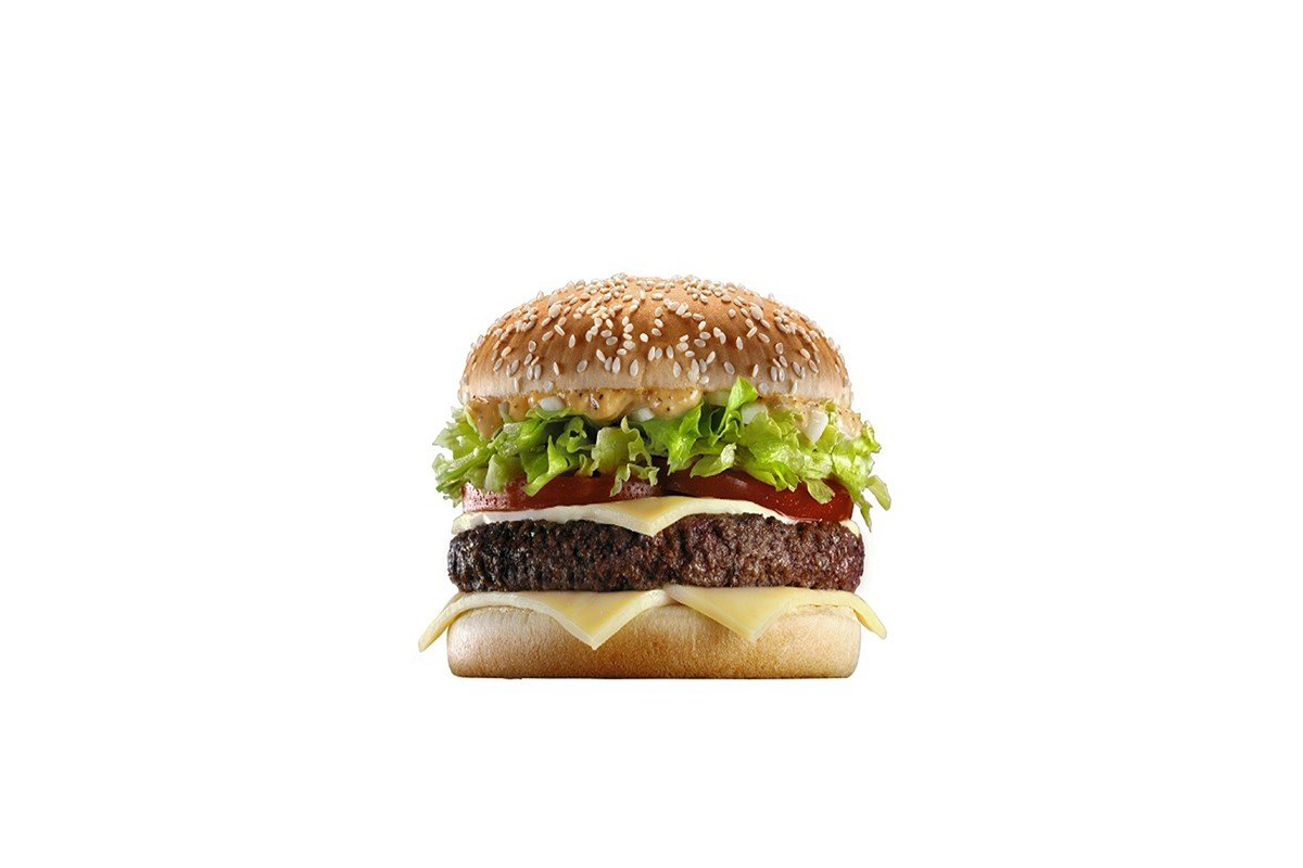 Наклейка на ноутбук Гамбургер