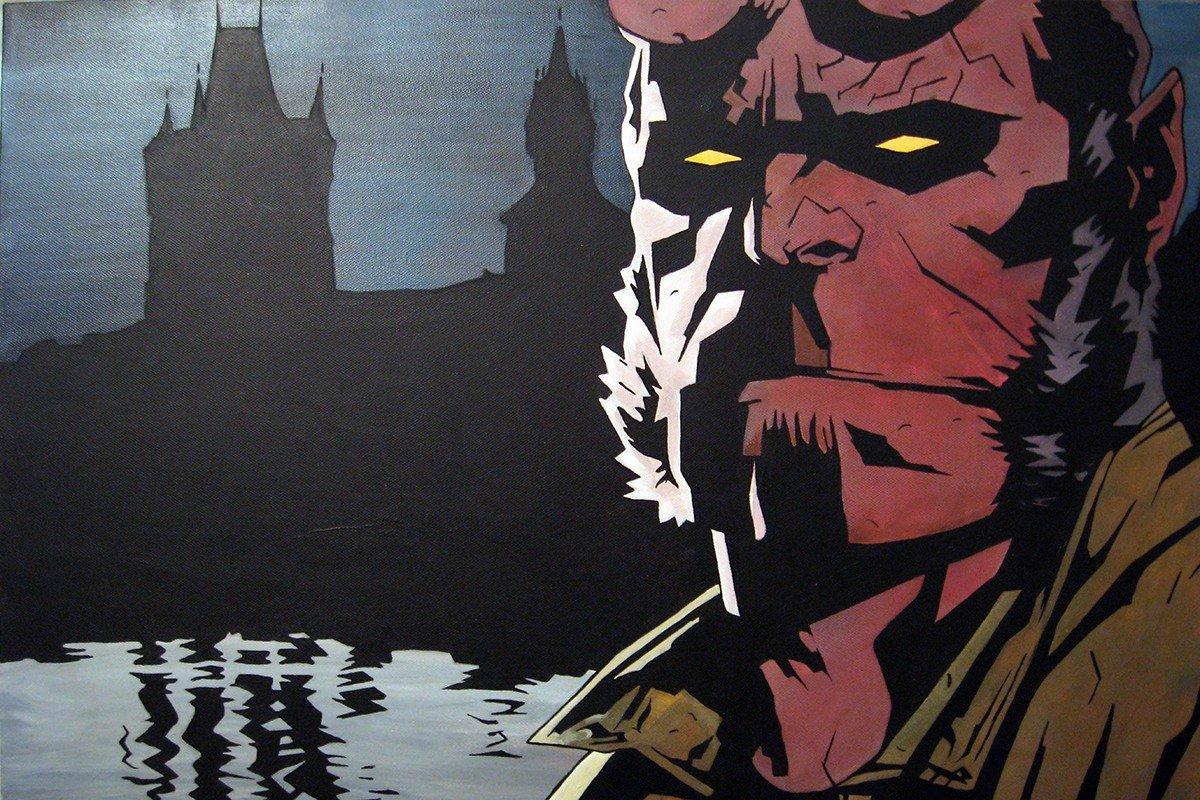 Наклейка на ноутбук Hellboy
