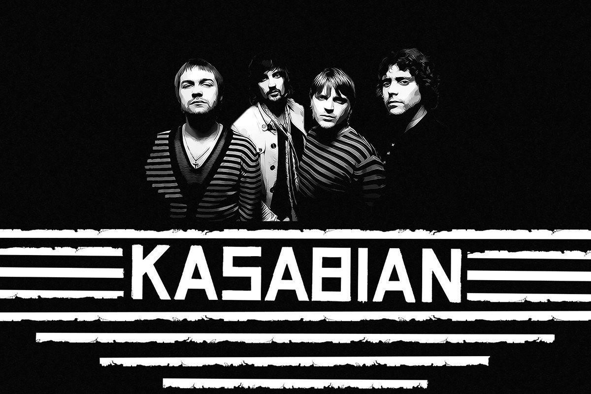 Наклейка на ноутбук Kasabian