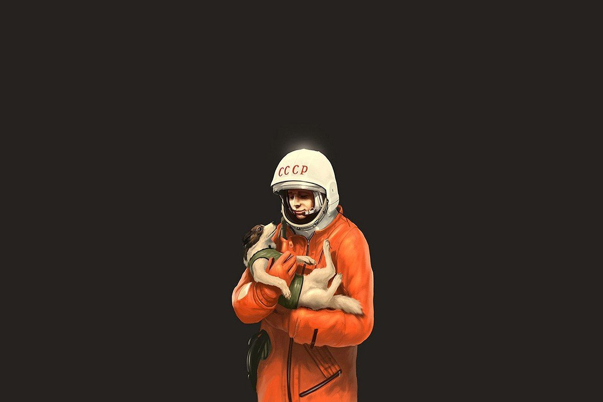 Наклейка на ноутбук Космонавт