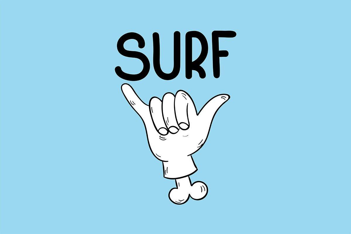 Наклейка на ноутбук Surf