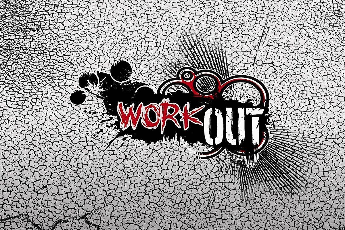 Наклейка на ноутбук WorkOut