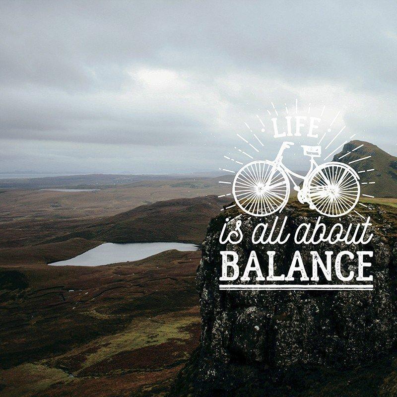 Наклейка на телефон Balance