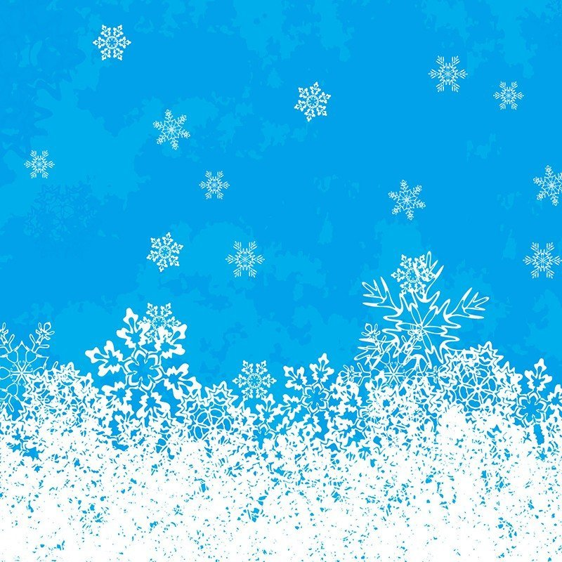 Наклейка на телефон Снег
