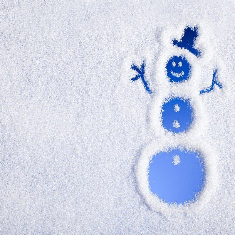 Наклейка на телефон Снеговик