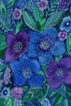 Наклейка на планшет Акварель  Синие цвкты .