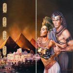 Наклейка на телефон Цари Египта