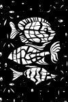 Наклейка на планшет Рыбы. Гороскоп. Черный