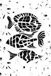 Наклейка на планшет Рыбы. Гороскоп. Белый