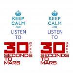 Наклейка на телефон Keep Calm: 30 seconds to mars [by Energetic]