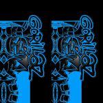 Чехол для телефона GORILLAZ / Blue symbols