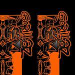 Наклейка на телефон GORILLAZ / Red symbols