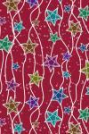 Наклейка на планшет Звезды на красном фоне