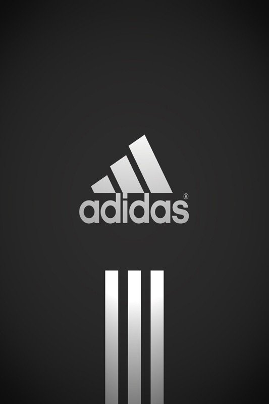 Наклейка на планшет Adidas Белый