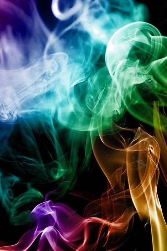 Наклейка на планшет Цветной Дым-1