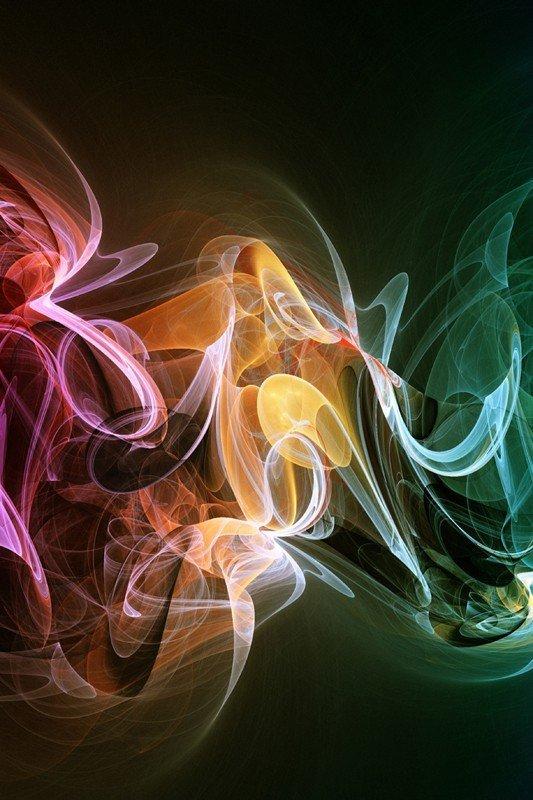 Наклейка на планшет Цветной Дым-2