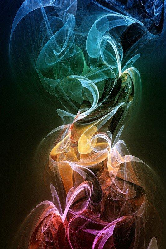Наклейка на планшет Цветной Дым