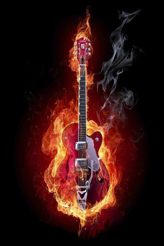 Наклейка на планшет Гитара