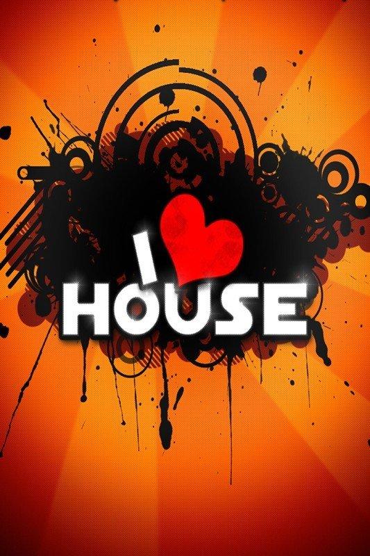 Наклейка на планшет I Love House
