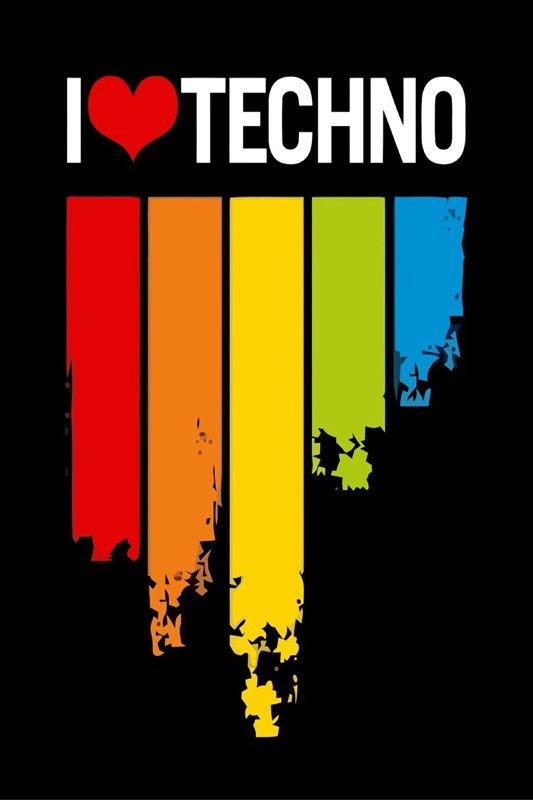 Наклейка на планшет I Love Techno