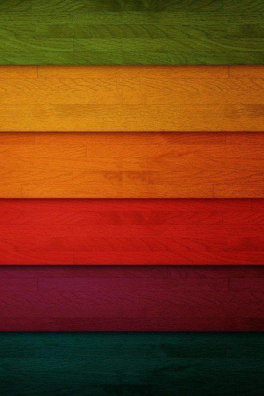 Наклейка на планшет Разноцветные Досточки