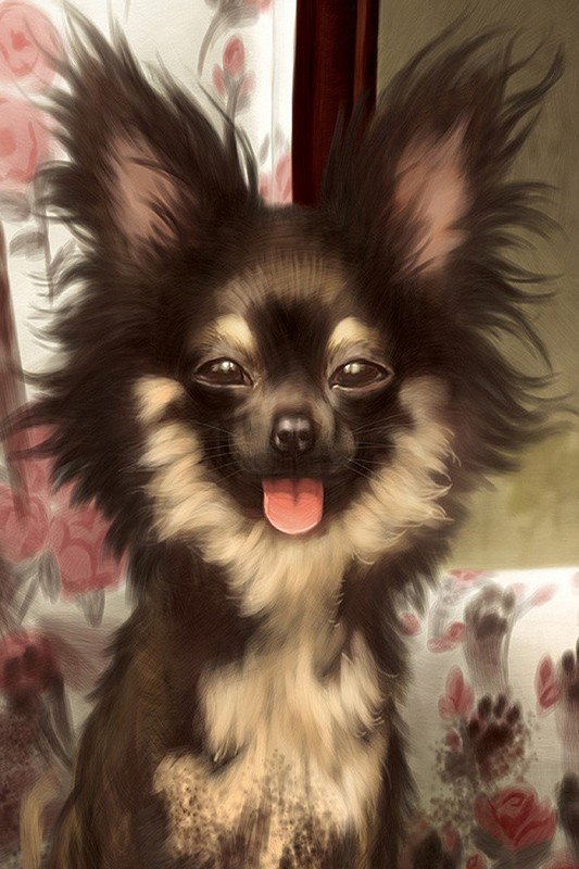Наклейка на планшет Собака